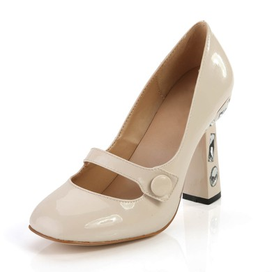 Women's  Patent Leather Closed Toe with Rhinestone #LDB03030368