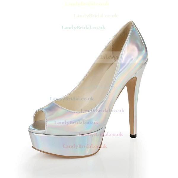 Women's Multi-color Patent Leather Pumps #LDB03030374