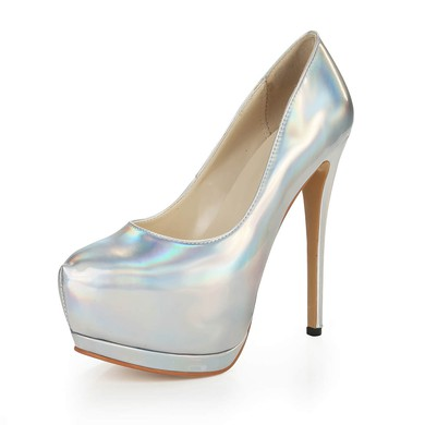 Women's Multi-color Patent Leather Pumps #LDB03030376