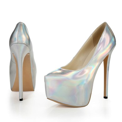 Women's Multi-color Patent Leather Pumps #LDB03030377
