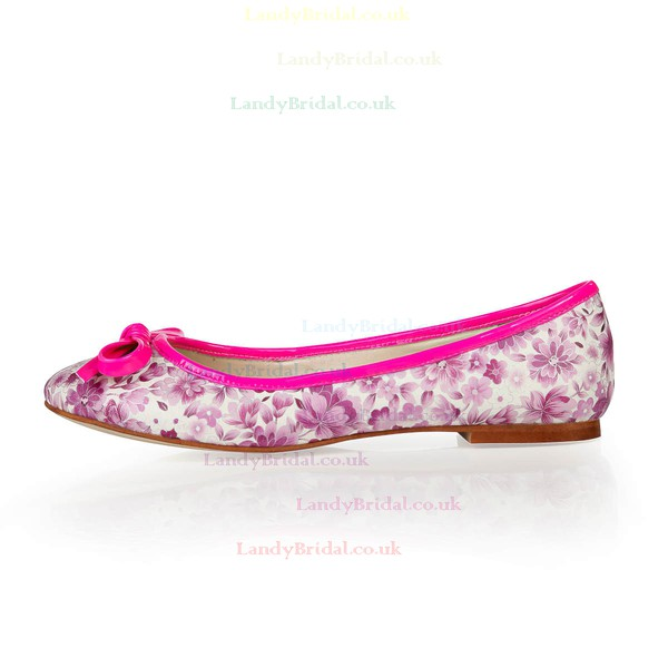Women's Multi-color Cloth Flats with Bowknot