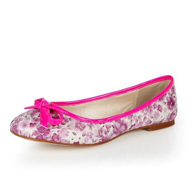 Women's Multi-color Cloth Flats with Bowknot #LDB03030380