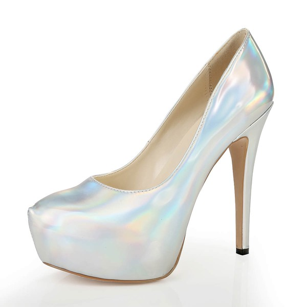 Women's Multi-color Patent Leather Pumps