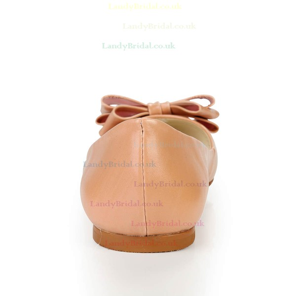 Women's  Patent Leather Closed Toe with Bowknot