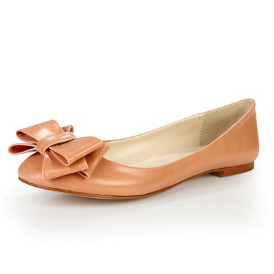 Women's  Patent Leather Closed Toe with Bowknot #LDB03030385