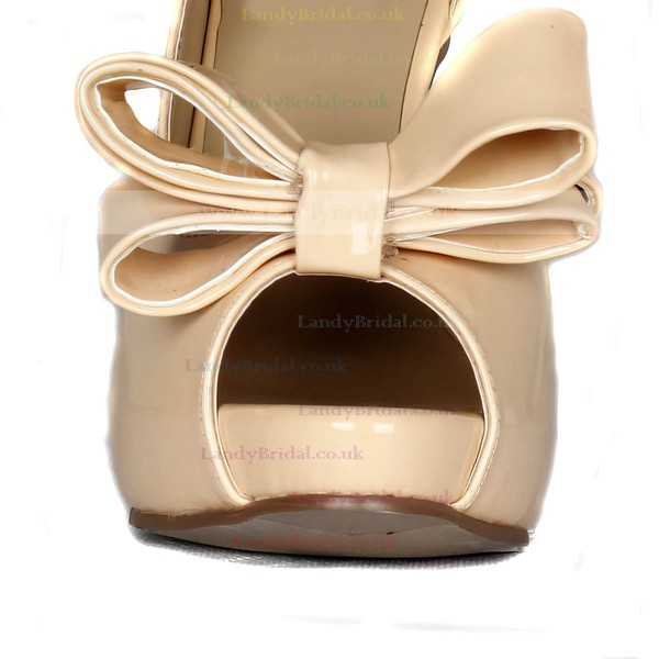 Women's  Patent Leather Pumps with Bowknot