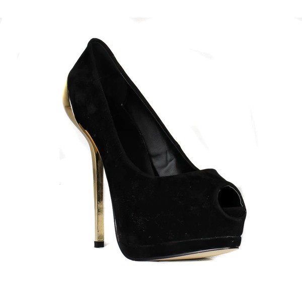 Women's Black Suede Pumps