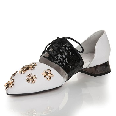 Women's  Real Leather Closed Toe with Lace-up #LDB03030449