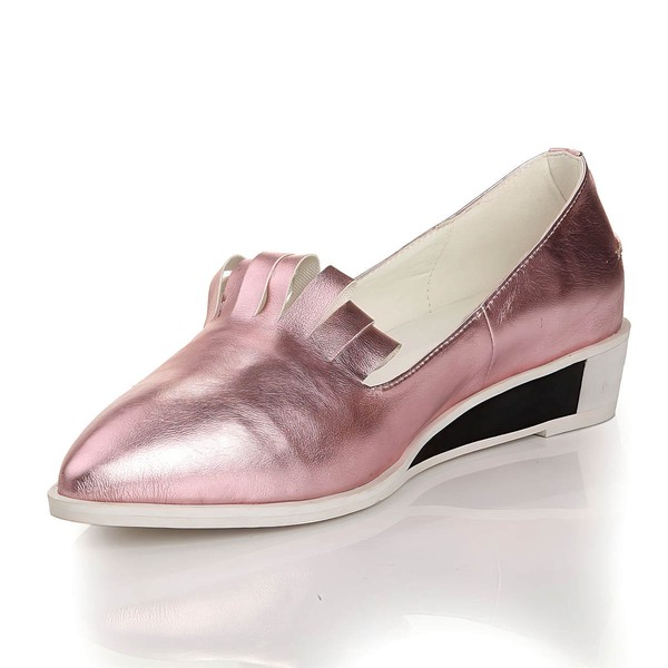 Women's Pink Real Leather Closed Toe #LDB03030455