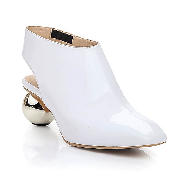 Women's White Patent Leather Closed Toe #LDB03030469