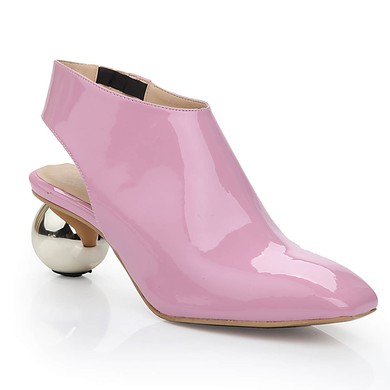Women's Pink Patent Leather Closed Toe #LDB03030470