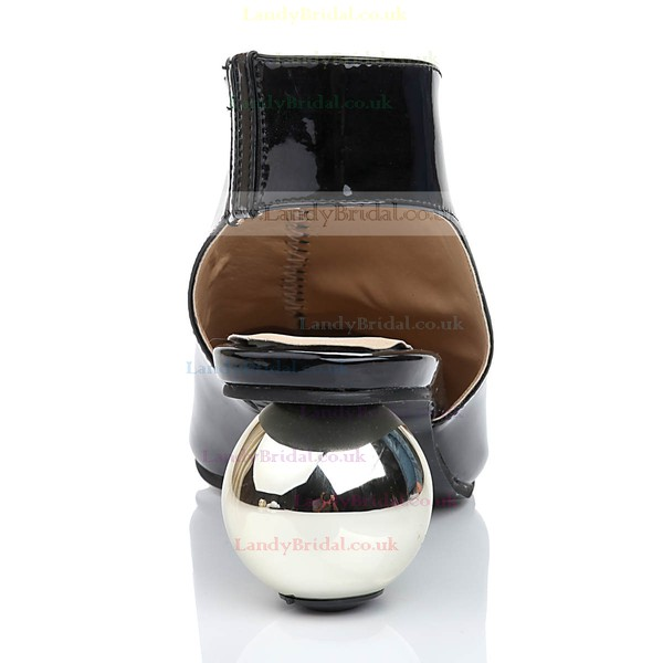 Women's Black Patent Leather Closed Toe