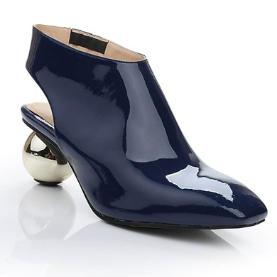 Women's Blue Patent Leather Closed Toe #LDB03030472