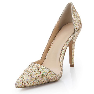 Women's  Patent Leather Closed Toe with Sparkling Glitter #LDB03030475