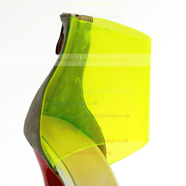 Women's  Patent Leather Pumps with Zipper