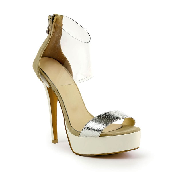 Women's  Patent Leather Pumps with Zipper #LDB03030493