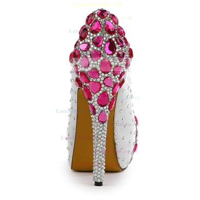 Women's  Patent Leather Pumps with Rhinestone/Crystal/Crystal Heel #LDB03030497