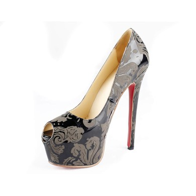 Women's  Patent Leather Pumps with Split Joint #LDB03030526