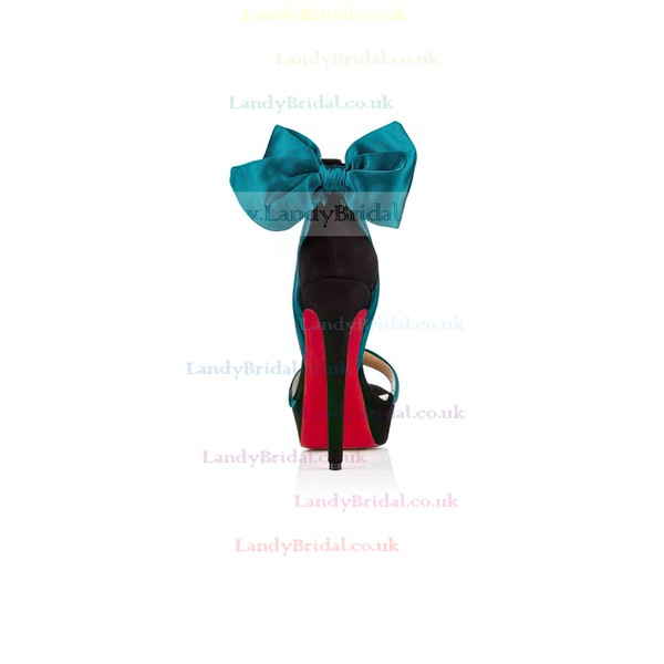 Women's Multi-color Satin Pumps with Bowknot