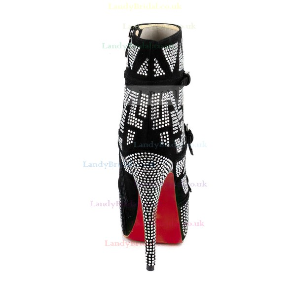 Women's Multi-color Leatherette Pumps with Buckle/Zipper/Crystal/Crystal Heel