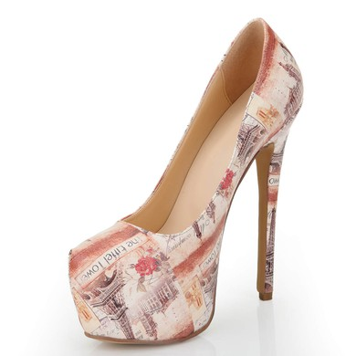 Women's Multi-color Leatherette Pumps with Others #LDB03030546