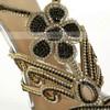 Women's Silver Satin Pumps with Buckle/Crystal/Crystal Heel #LDB03030569