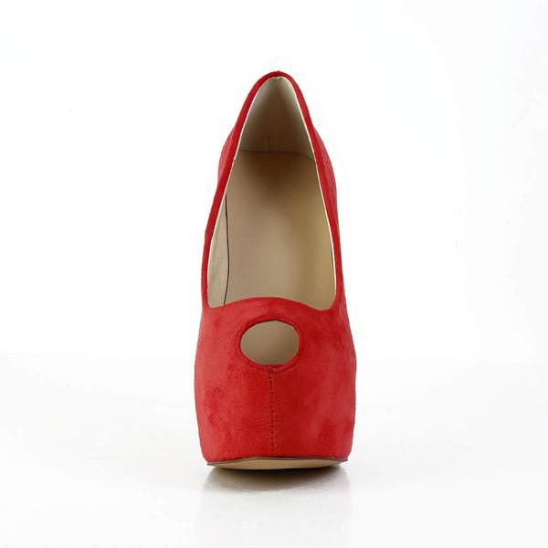 Women's Red Suede Pumps
