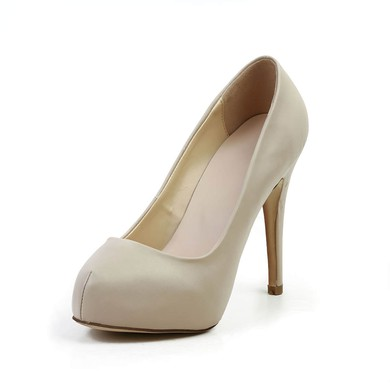 Women's Khaki Real Leather Pumps #LDB03030582