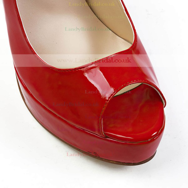 Women's Red Patent Leather Pumps