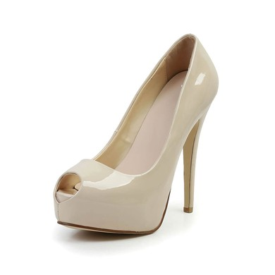 Women's Apricot Patent Leather Pumps #LDB03030587