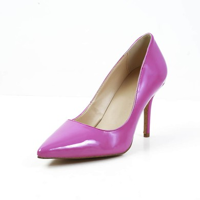 Women's Fuchsia Patent Leather Pumps #LDB03030592