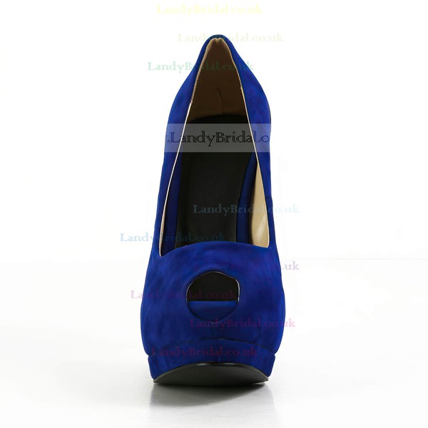 Women's Blue Suede Pumps