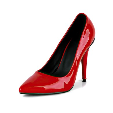 Women's Red Patent Leather Pumps #LDB03030610