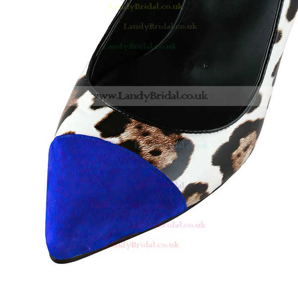 Women's Leopard Patent Leather Pumps with Split Joint/Animal Print