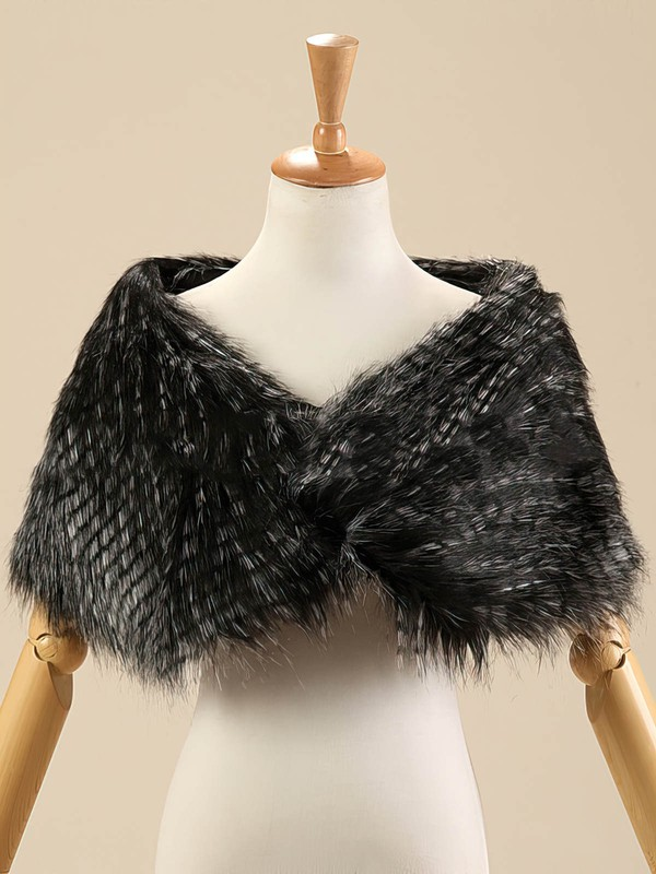 Faux Fur Sleeveless Shawl #LDB03040011