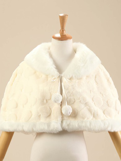 Faux Fur Sleeveless Shawl #LDB03040014