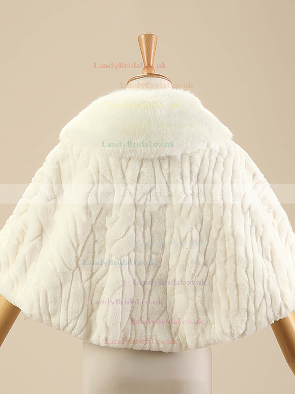 Faux Fur Sleeveless Shawl