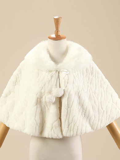 Faux Fur Sleeveless Shawl #LDB03040015