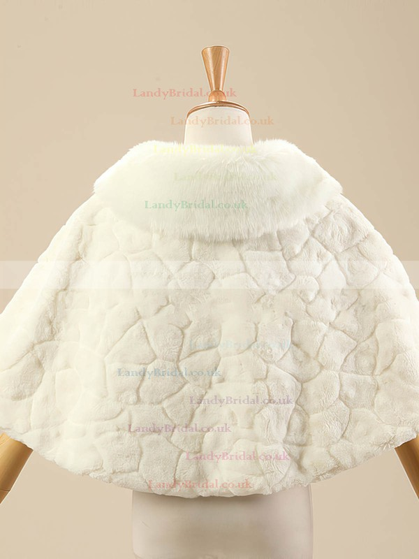 Faux Fur Sleeveless Shawl #LDB03040017