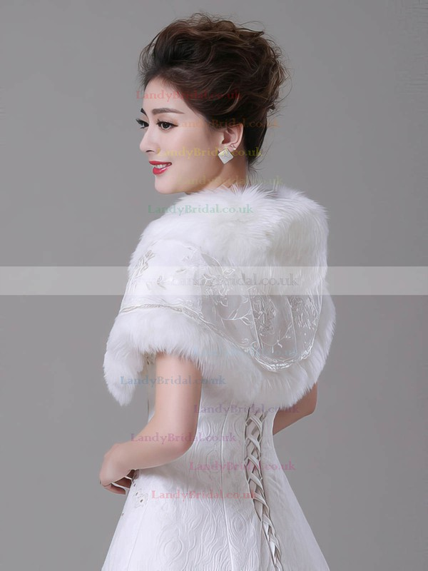 Faux Fur Sleeveless Wrap with Lace/Bow