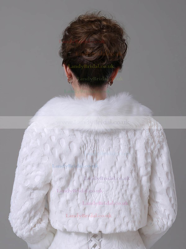 Faux Fur 3/4-Length Sleeve Wrap with Lace #LDB03040027