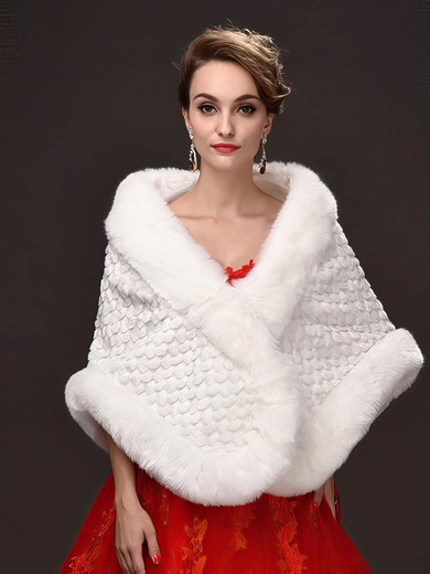 Faux Fur Sleeveless Shawl #LDB03040036