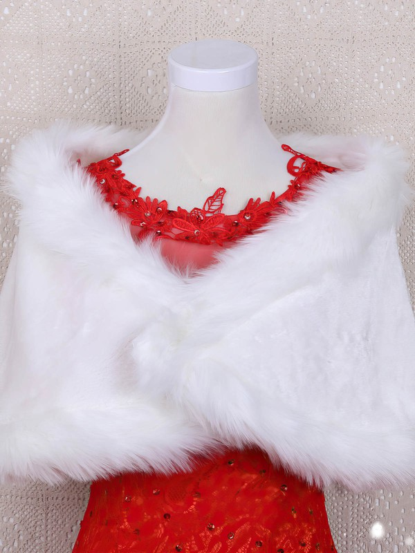 Faux Fur Sleeveless Shawl #LDB03040041