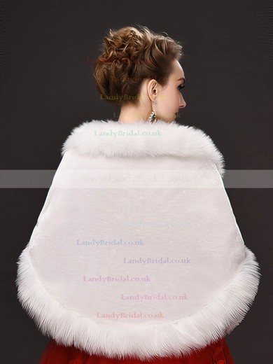 Faux Fur Sleeveless Shawl #LDB03040045