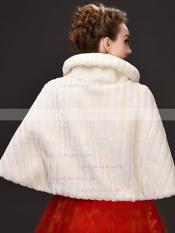 Faux Fur Half-Sleeve Wrap with Beading