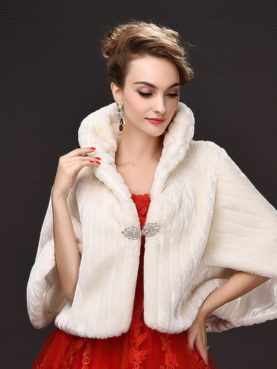 Faux Fur Half-Sleeve Wrap with Beading #LDB03040046
