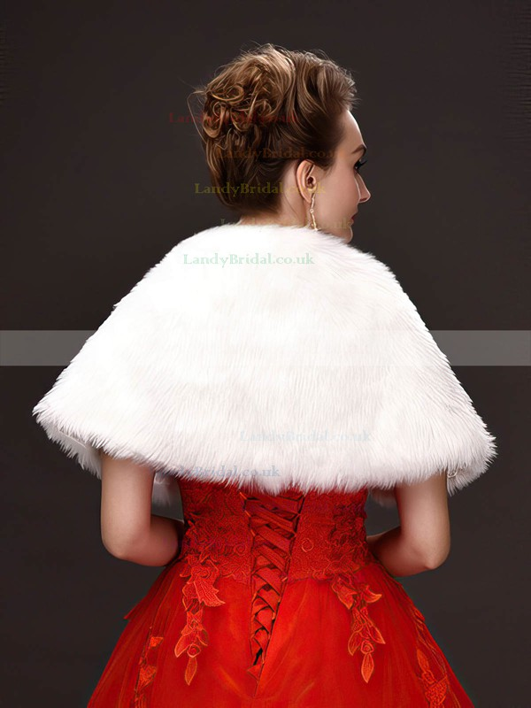 Faux Fur Sleeveless Shawl #LDB03040053