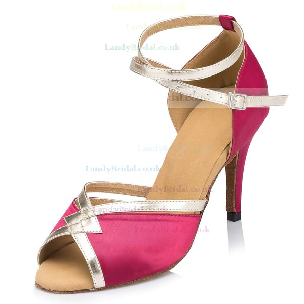 Women's Red Velvet Kitten Heel Sandals