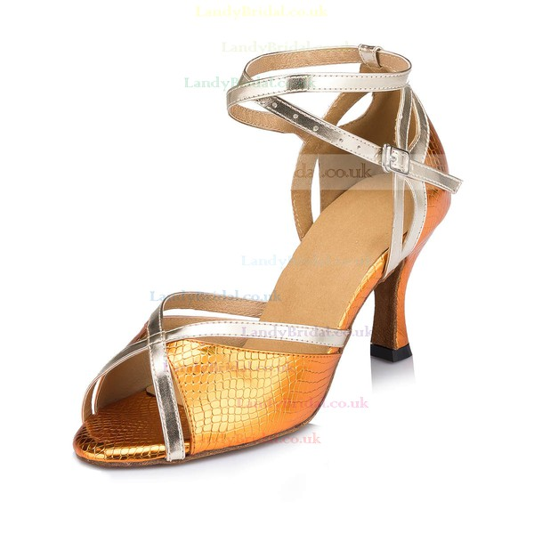 Women's Blue Leatherette Stiletto Heel Pumps