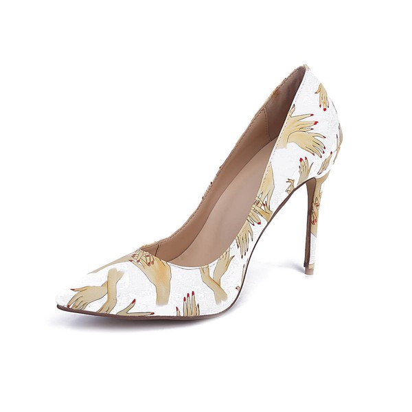 Women's Multi-color Leatherette Stiletto Heel Pumps #LDB03030667